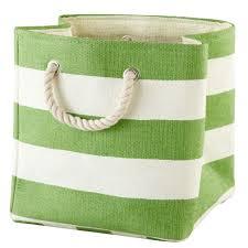 Baby Storage Baskets Stripes Around The Cube Bin Yellow The Land Of Nod