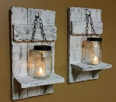Jar Candle Wall Sconce Distressed Candle Holder Rustic Candles Mason Jar Candle