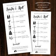 downloadable wedding programs printable wedding timeline printable wedding itinerary wedding