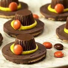 easy pilgrim hat cookies with fudge stripes and reese s peanut