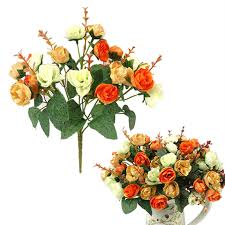 fake flowers for home decor multi styles artificial fake silk flowers bouquet wedding party