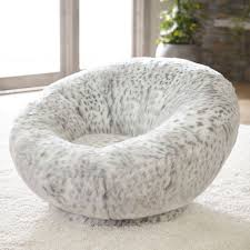 Leopard Print Swivel Chair Gray Leopard Faux Fur Groovy Swivel Chair Pbteen