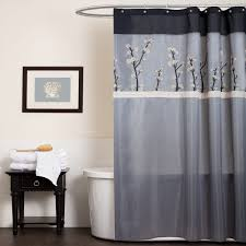 Fleur De Lis Home Decor Bathroom Lavish Home Meridian Grommet Style Ruffle Fleur De Lis Shower