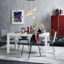 west elm white table parsons dining table rectangle west elm
