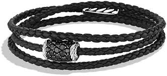 black diamonds bracelet images David yurman chevron triple wrap bracelet with black diamonds jpg