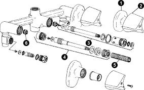 Kohler Bathroom Faucet Parts by Shower Faucet Parts Diagram Periodic Tables