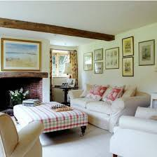 Country Style Living Room by Country Style Living Rooms With Floral Fabric And Neutral Sofa And