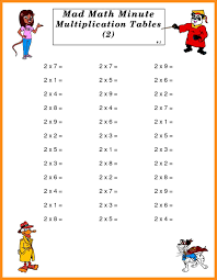 Math Worksheets Generator 6 Mad Minute Math Multiplication Lvn Resume