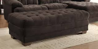 microfiber sectional with ottoman 1 538 00 brooks chocolate plush microfiber sectional sofa d2d