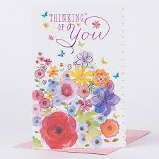 thinking of you flowers sympathy card thinking of you flowers only 99p