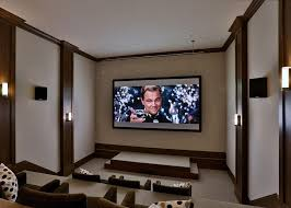 bethesda movie theater for a transitional home theater with a