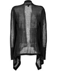 Black Drape Front Cardigan Dkny Silk Cashmere Open Knit Drape Front Cardigan Where To Buy