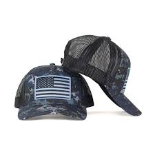 American Flag Camo Hat American Flag On Blue Digital Camo Snapback Trucker Hats Hoo Rag