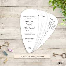 Fan Wedding Program Template Fan Wedding Program Petal Fan Program Printable Instant