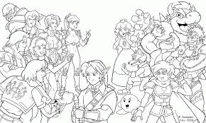 super smash brothers coloring pages free printable coloring home