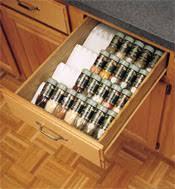 Kitchen Cabinet Dividers Kitchen Cabinet Storage Accessories Spice Drawer Insert Tray
