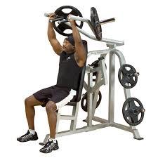 body solid leverage shoulder press professional gym equipment