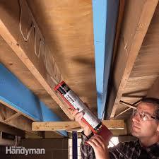 Squeaky Floor Repair How To Fix A Floor Squeaky U0026 Sagging Floors Diy Home Improvement