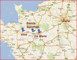 map of le mans vitre le mans sainte suzanne map the independent tourist