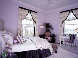 teen bedroom design ideas with purple color and curtains designs