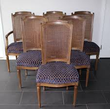6 vintage henredon french regency dining room chairs from