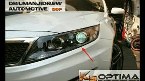 2013 kia optima led fog light bulb how to easily change headlight bulbs on 2011 2013 kia optima youtube