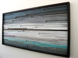 rustic modern wood sculpture distressed wall by modernrusticart