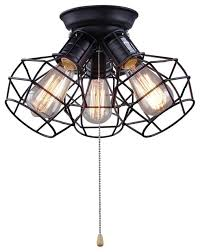 Pull Chain Light Fixtures Amazing Wire Cage Ceiling Light 3 Pull String L For Regarding