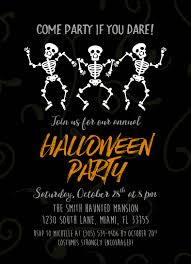 Dancing Halloween Skeleton by Halloween Invitation Skeleton Halloween Invitation Halloween