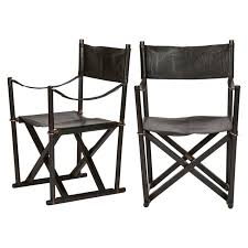 pair of mk 16 safari directors chairs by mogens koch leather at