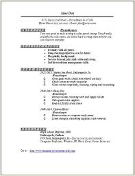 Housekeeping Job Description For Resume by 28 Resume Templates For Housekeeping Jobs Housekeeper