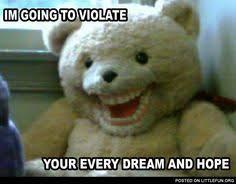 Snuggle Bear Meme - scary teddy bear meme google search horrorfan pinterest
