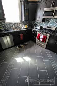 Modern Ideas Painted Tile Floor by How To Refinish Painted Kitchen Cabinets Double Oven Electric