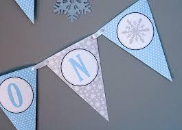 Winter Wonderland Diy Decorations - winter onederland birthday banner boy birthday winter