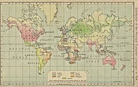 Blank Map Of The World 1914 by World Languages Map 1914