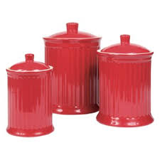 Red Kitchen Set - kitchen canisters u0026 jars you u0027ll love wayfair