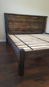 Diy Platform Bed With Upholstered Headboard by Best 25 Diy Bed Frame Ideas On Pinterest Pallet Platform Bed