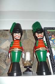 christmas toy soldiers made of painted clay pots so easy and cute