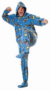 chris and i are trying to find footie pajamas to wear on