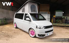 pink volkswagen van bang tidy 2006 t5 vw transporter vwt magazine