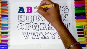 learn colors with alphabets coloring pages abc abc coloring