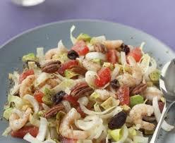 cuisiner des endives salade d endives plemousse et crevettes recette de salade d