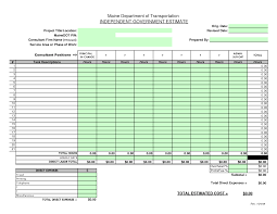 Building Cost Spreadsheet Construction Bid Sheet Template Construction Estimate Blank