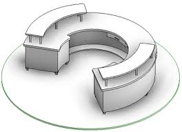 Revit Reception Desk Solved How To Create Circular Desk Without Void Extrusion