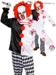 killer clown costume mens killer clown costume scary evil fancy dress circus
