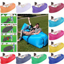 portable inflatable air sofa bed lazy bag sleeping camping beach