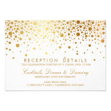wedding reception card cloveranddot com