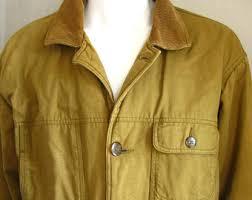 Leather Barn Coat Vintage Barn Jacket Etsy