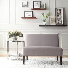 dining room loveseat easton gray linen 2 seater accent loveseat overstock com