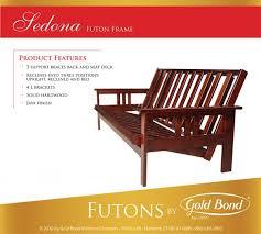 gold bond sedona futon frame vermont bedrooms rutland vermont